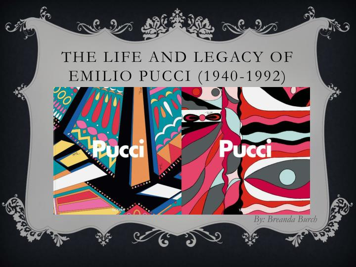 the life and legacy of emilio pucci 1940 1992 n.