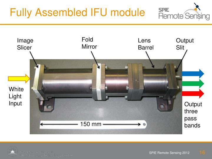 Fully Assembled IFU module