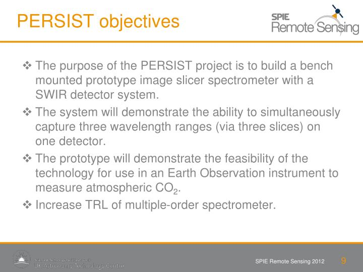 PERSIST objectives