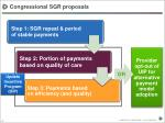 congressional sgr proposals