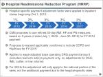 hospital readmissions reduction program hrrp