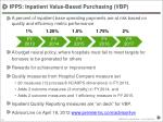 ipps inpatient value based purchasing vbp