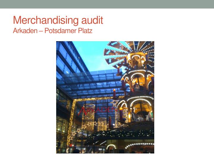 Merchandising audit