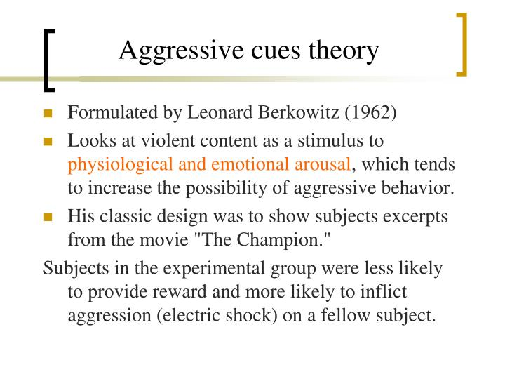 Aggressive cues theory