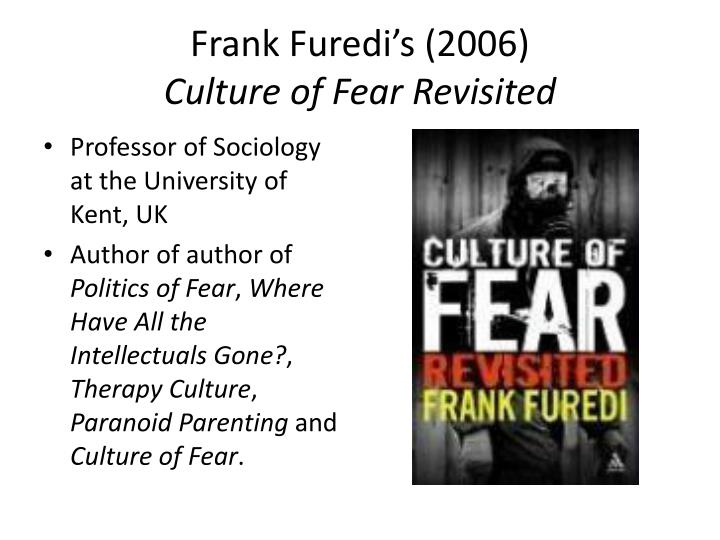 paradoxes of the culture of fear The fear of victimization-paradox - disproportional fear of women and the elderly - rational or irrational - andreas schaut - seminar paper - law - criminal process, criminology, law enforcement - publish your bachelor's or master's thesis, dissertation, term paper or essay.