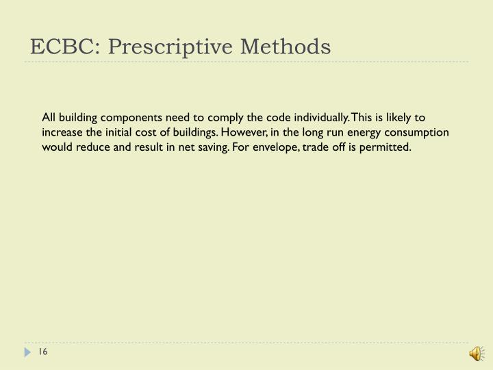 ECBC: Prescriptive Methods