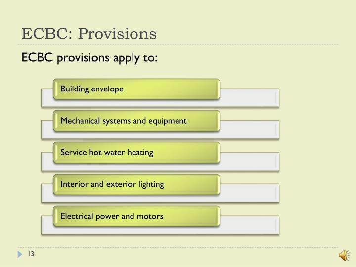 ECBC: Provisions