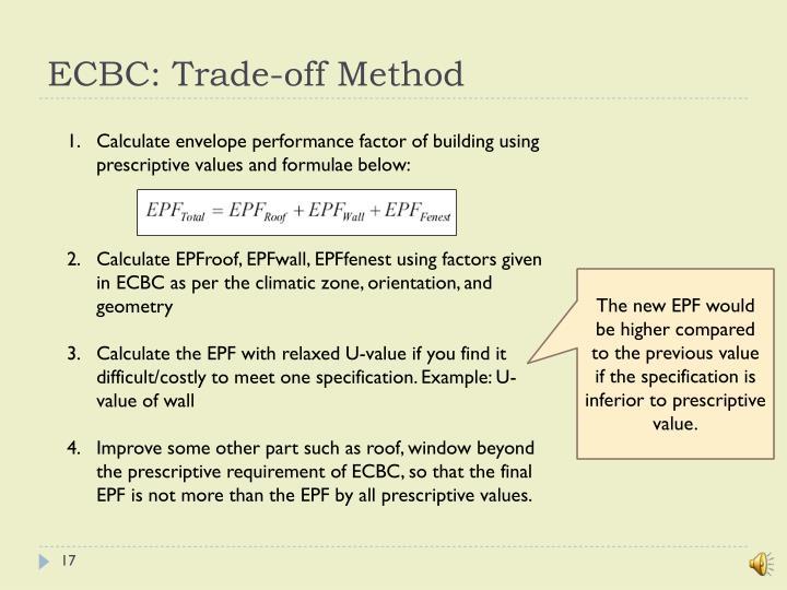 ECBC: Trade-off Method