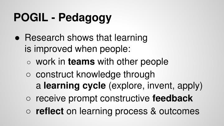 POGIL - Pedagogy