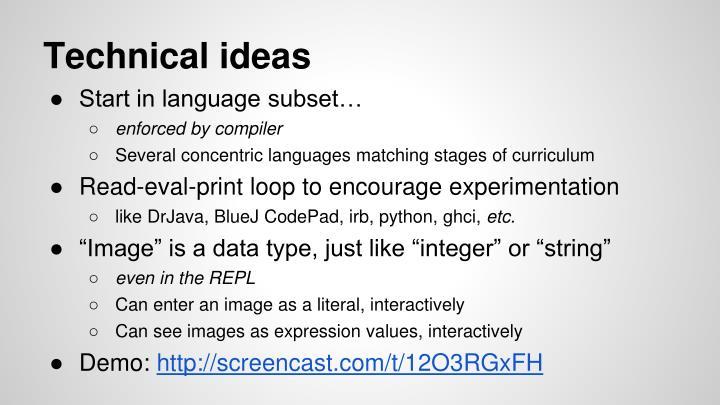 Technical ideas