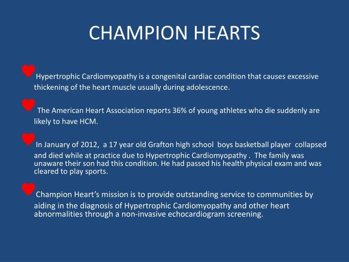 CHAMPION HEARTS