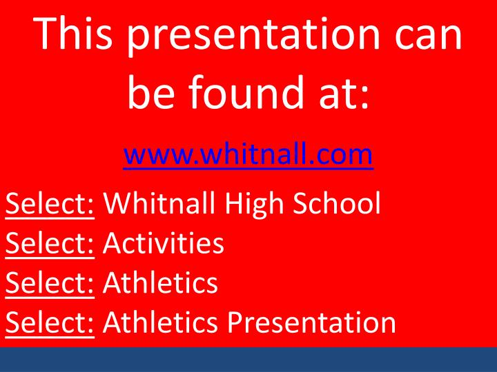 This presentation can be found at:
