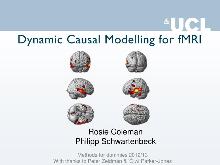dynamic causal modelling for fmri n.