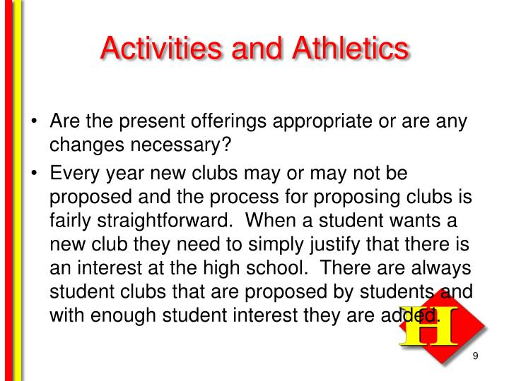 Activities and Athletics