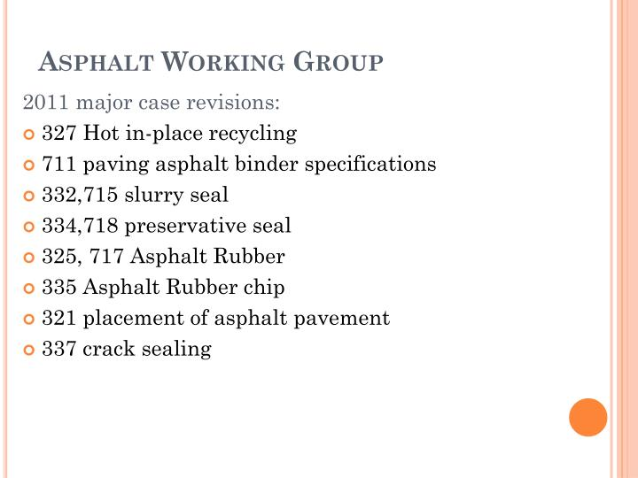 Asphalt Working Group