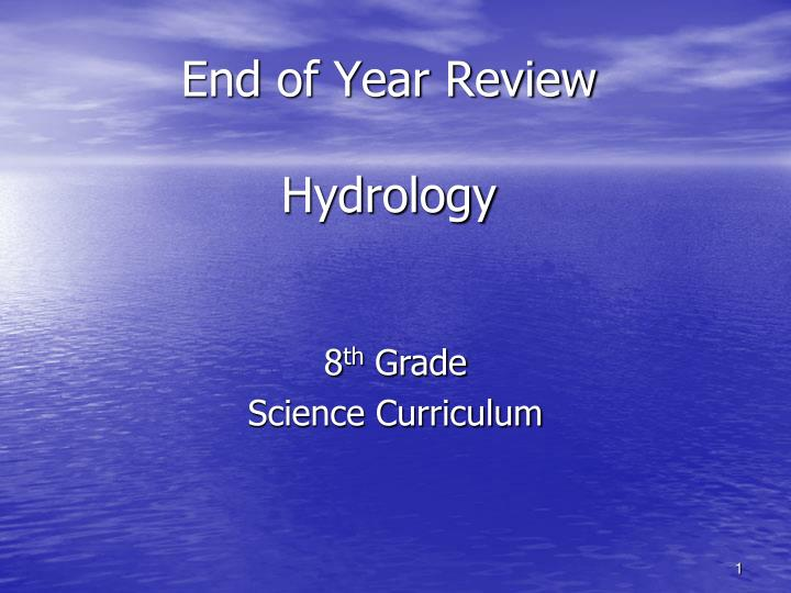 end of year review hydrology n.