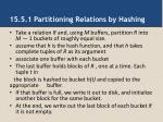 15 5 1 partitioning relations by hashing