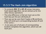 15 5 5 the hash join algorithm