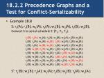 18 2 2 precedence graphs and a test for conflict serializability2