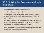18 2 3 why the precedence graph test works
