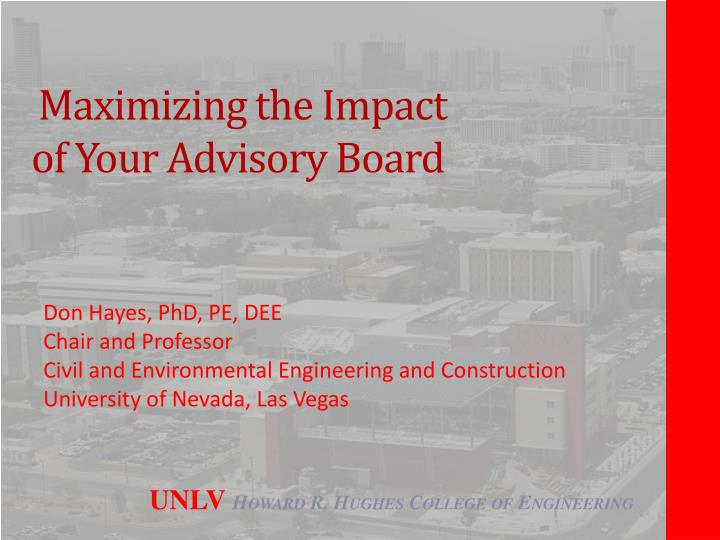maximizing the impact of your advisory board n.