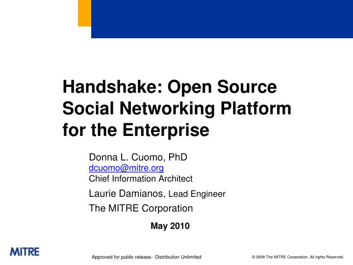 handshake open source social networking platform for the enterprise n.