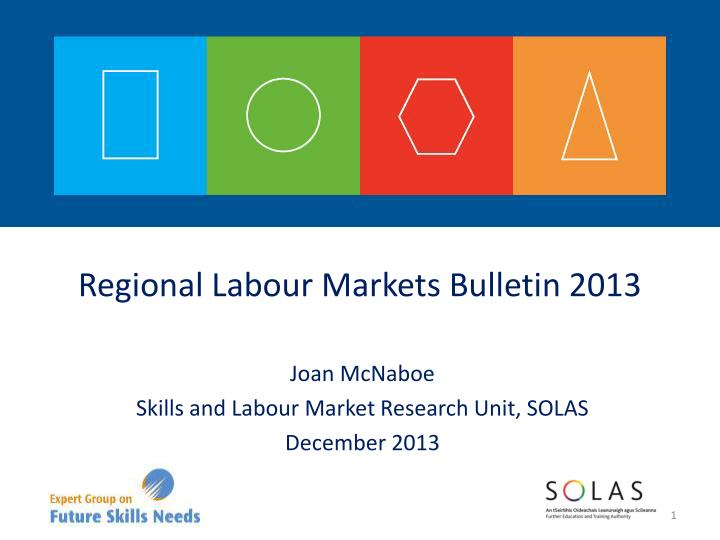 joan mcnaboe skills and labour market research unit solas december 2013 n.