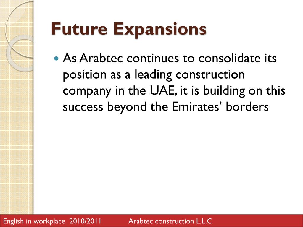 PPT - Arabtec Construction Co  PowerPoint Presentation - ID:1616770