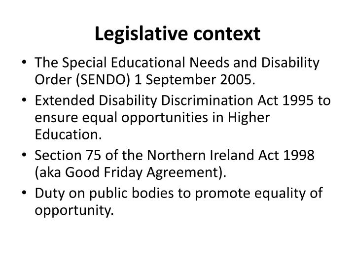 Legislative context