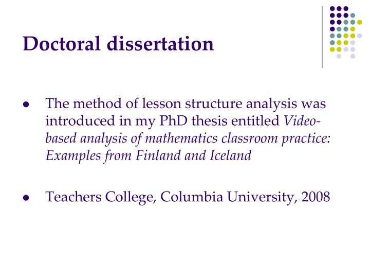 dissertation strucutre Design the best dissertation structure using our help and samples structure of a dissertation can make or break the situation for a student of phd or any other educational course.