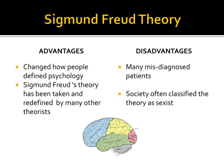 pros cons of the sigmund freud theory Philosophy - psychoanalysis - sigmund freud (1856-1939) discussion of philosophy / metaphysics of quotations from sigmund freud sigmund freud pictures / quotes / quotations / biography / theory.