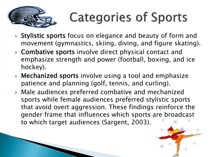 Categories of Sports