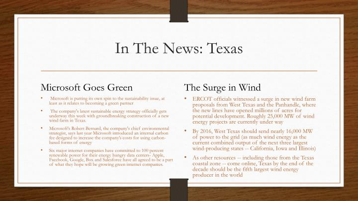 In The News: Texas