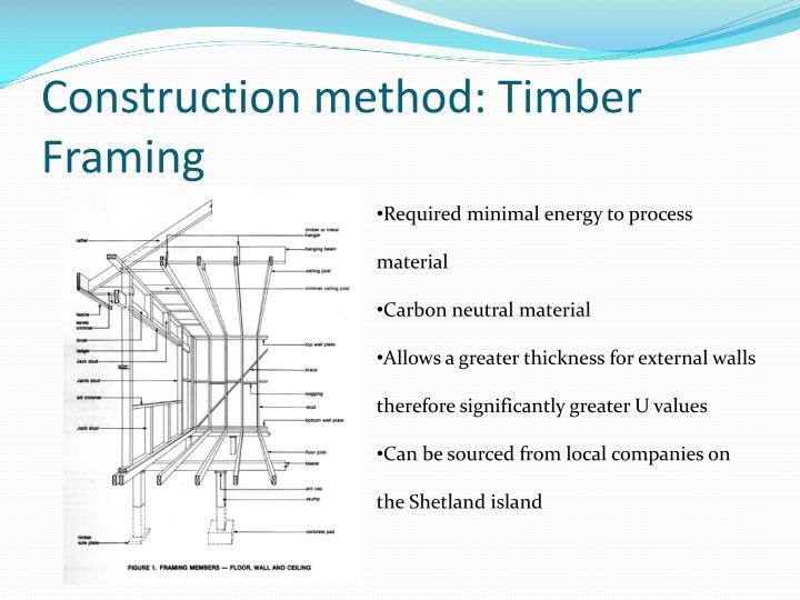 Construction method timber framing