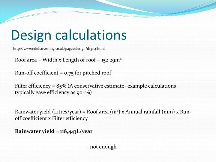 Design calculations