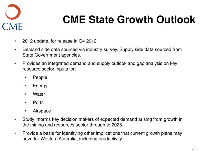 CME State Growth Outlook