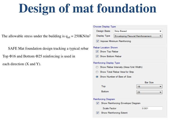 Design of mat foundation
