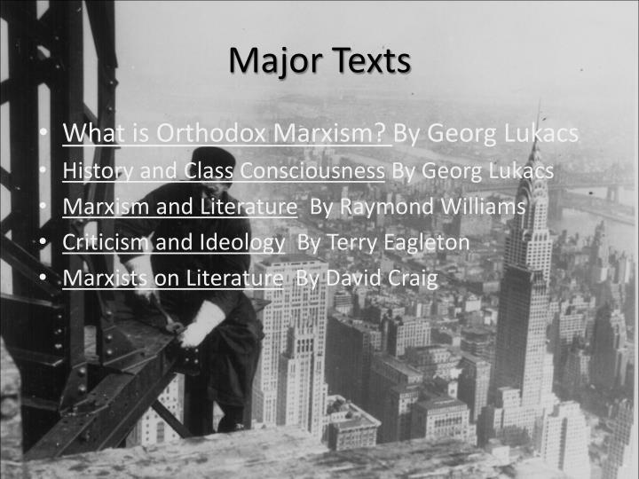 Major Texts
