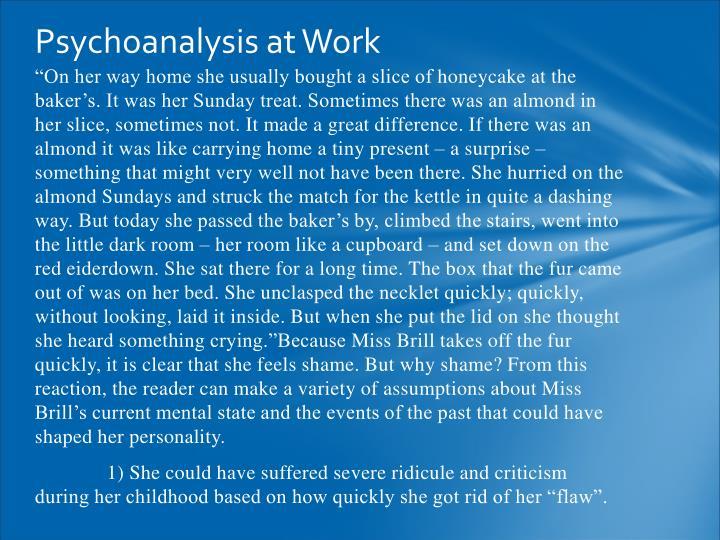 Psychoanalysis at Work