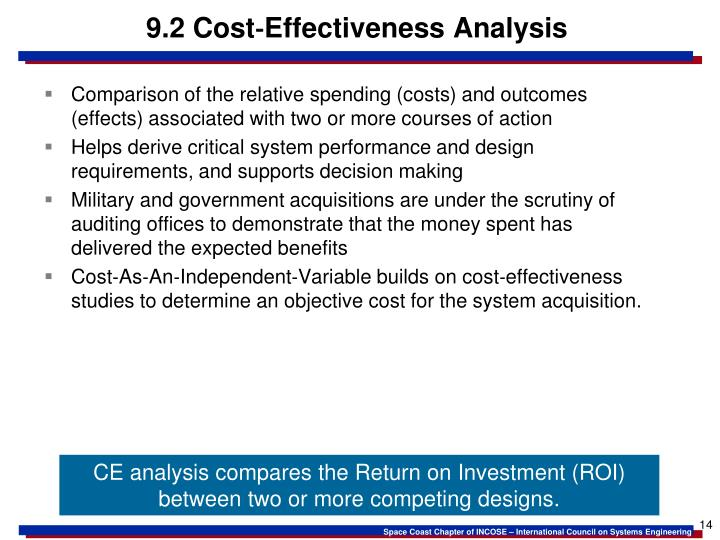9.2 Cost‐Effectiveness Analysis