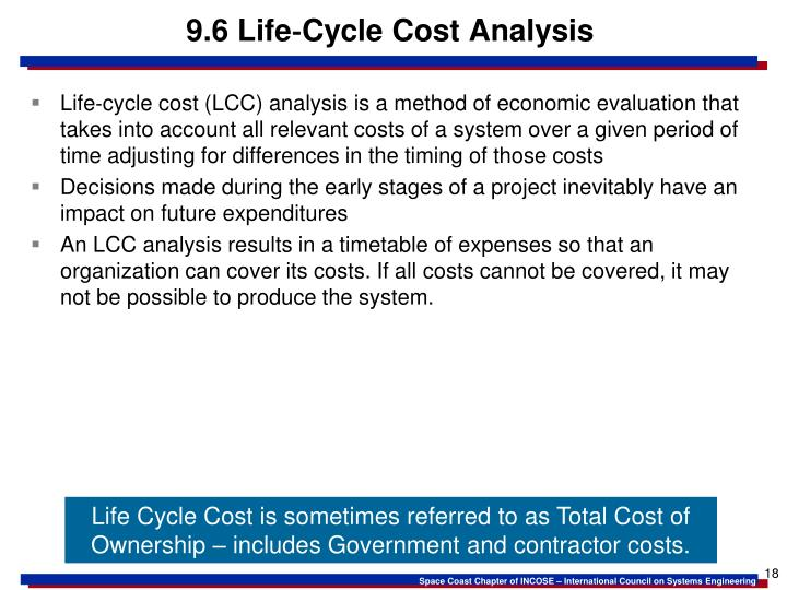 9.6 Life‐Cycle Cost Analysis