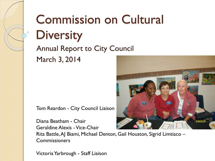 commission on cultural diversity n.