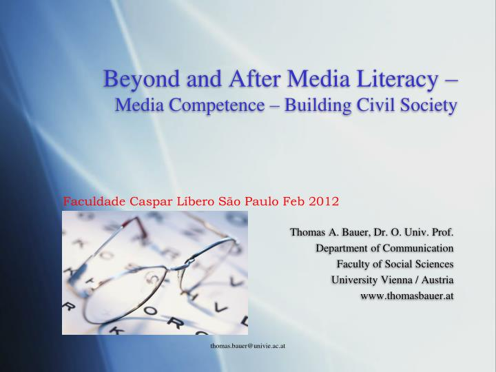 beyond and after media literacy media competence building civil society n.