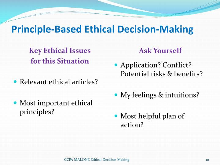 ethical decision making models and the importance of ethics in management How are ethical considerations incorporated into planning & policy making in an organization by brian hill.
