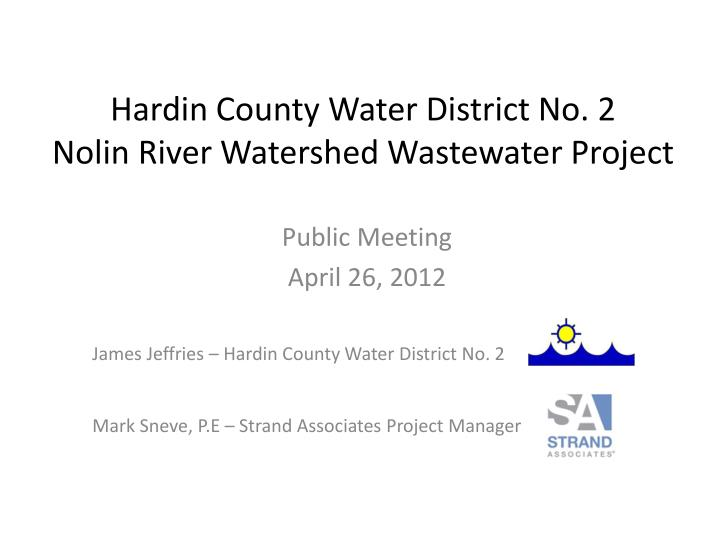 hardin county water district no 2 nolin river watershed wastewater project n.