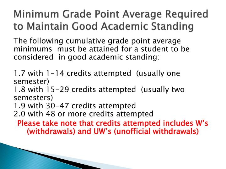 PPT - Academic Probation PowerPoint Presentation - ID1617092