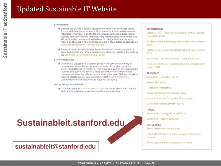 PPT Sustainable IT Stanford PowerPoint Presentation ID1617100