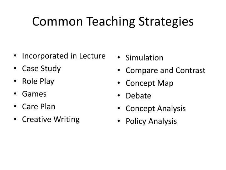 Common Teaching Strategies