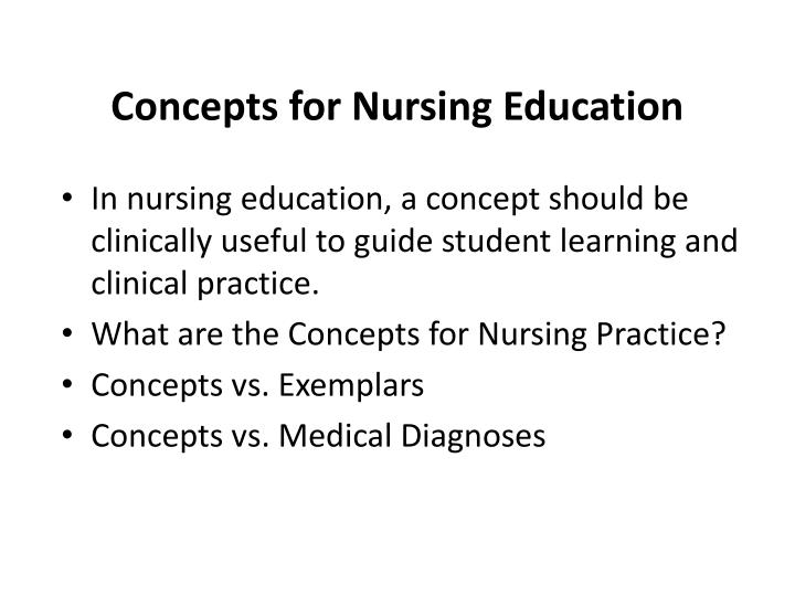 Concepts for Nursing Education