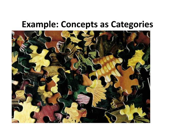 Example: Concepts as Categories